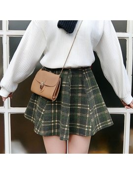 You Ge Man Falda Mujer Autumn Winer Korean Ulzzang Harajuku Vintage Plaid Short S Kirts Women High Waist Mini Skirt Female Clothes by You Ge Man