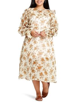 Ada Ditsy Print Tea Length Dress by Elvi