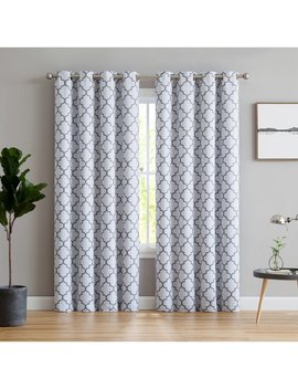 Andover Mills Kuhlmann Lattice Thermal Curtain Panels & Reviews by Andover Mills