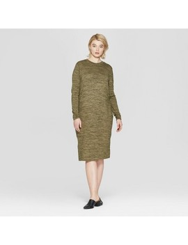 Women's Plus Size Long Sleeve Knit Midi Dress   Prologue™ by Prologue