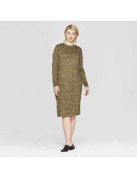 Women's Plus Size Long Sleeve Knit Midi Dress   Prologue™ by Prologue
