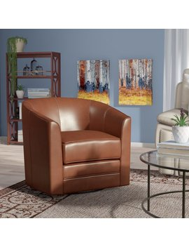 Andover Mills Morefield Swivel Barrel Chair & Reviews by Andover Mills