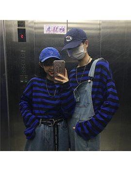 You Ge Man T Shirt Femme 2019 Spring Harajuku Clothing Korean Ulzzang Street Black Striped T Shirt Women Long Sleeve Tshirt Tops by You Ge Man