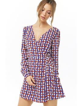 Geo Print Wrap Dress by Forever 21
