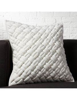 "20"" Jersey Interknit Ivory Pillow by Crate&Barrel"