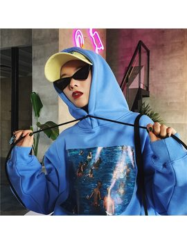 2018 Harajuku Hoodies Sweatshirts Women Pullvoer Hoodie Korean Ulzzang Printed Long Sleeve Hooded Fleece Sweatshirt Autumn Coat by You Ge Man