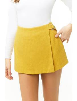 Tweed Wrap Front Skort by Forever 21
