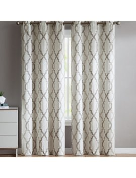 Andover Mills Torr Geometric Semi Sheer Grommet Single Curtain Panel & Reviews by Andover Mills