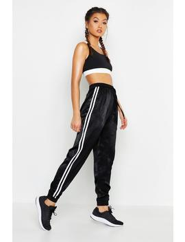 Fit Duo Stripe Tracksuit Bottoms by Boohoo