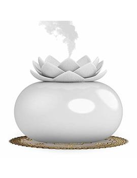 Yjy Flower Essential Oil Diffuser Decorative Aromatherapy Diffuser, Cute Lotus Ceramic Humidifier Crafts Ornaments, Usb Timer 12... by Yjy