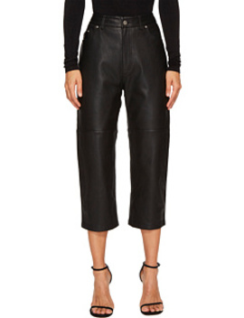 Cropped '59 Leather Pants by Mc Q