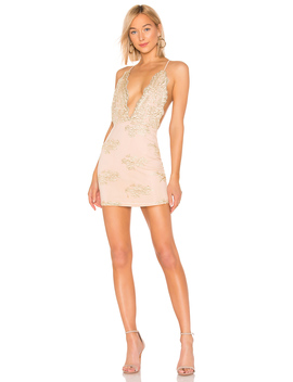 Gianna Deep V Mini Dress by By The Way.