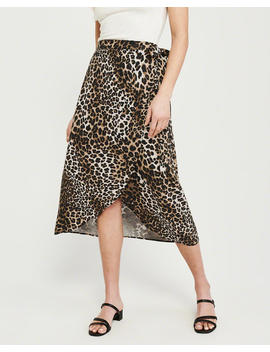 Leopard Print Midi Skirt by Abercrombie & Fitch