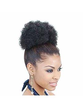 Afro Kinky Curly Puff Drawstring Bun Ponytail by Afrodite