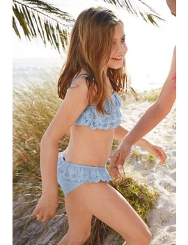 Broderie Frill Bikini (3 16yrs) by Next