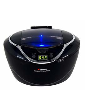 Gemoro 1790 Sparkle Spa Pro 750ml Professional Ultrasonic Machine With 5 Cleaning Cycles And Black Digital Timer by Gemoro