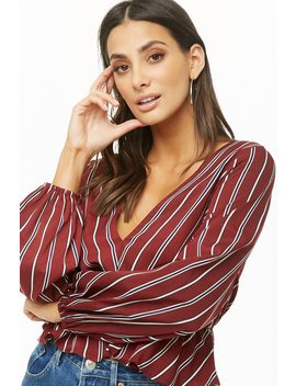 Striped Flared Hem Top by Forever 21