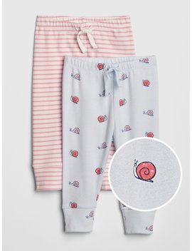 Snail Stripe Pull On Pants (2 Pack) by Gap