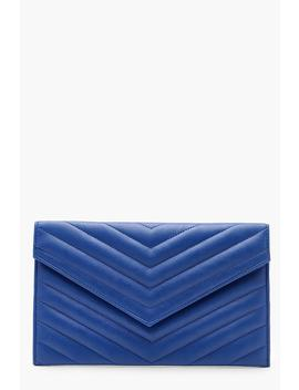 Chevron Envelope Clutch by Boohoo