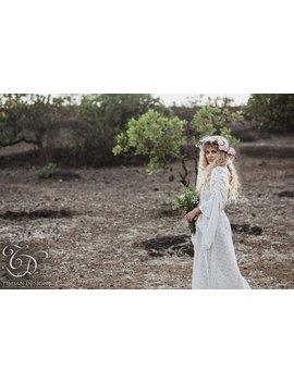 Long Empress Dress   Bohemian Lace Hippie Boho Wedding Bride Romantic Casual Shabby Chic Plus Size Gypsy Ethnic   Off White Cream by Etsy