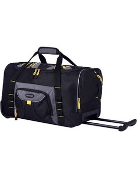 Tprc 21 Rolling Duffel Carry On, Black by Tprc
