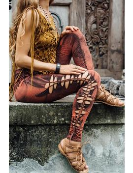 Cutted  And Braided Leggings... Goa Style Leggings...Bleached...Snake Skin Print... Lace Print... Yoga Wear...Yoga Leggings by Etsy