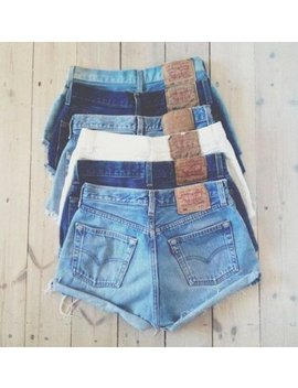 Levi's Denim Cutoff Shorts Custom Fit Vintage Button Fly 501's Or Zip Fly Levi Jean Shorts All Sizes by Etsy
