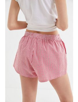 Urban Renewal Remnants Pull On Gingham Short by Urban Renewal