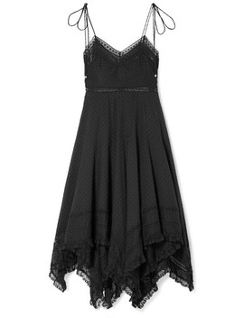 Juno Lace Trimmed Fil Coupé Cotton Voile Dress by Zimmermann