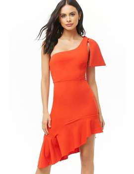 Selfie Leslie Asymmetrical One Shoulder Dress by Forever 21