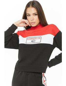Corvette Graphic Colorblock Sweatshirt by Forever 21