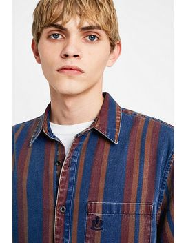 Uo Striped Denim Shirt by Urban Outfitters