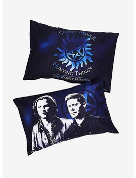 Supernatural Family Business Pillowcase Set by Hot Topic