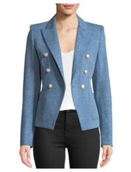 Veronica Beard Caden Double Breasted Dickey Jacket by Veronica Beard