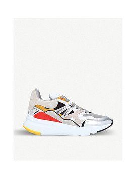 Patchwork Runner Leather Trainers by Alexander Mcqueen