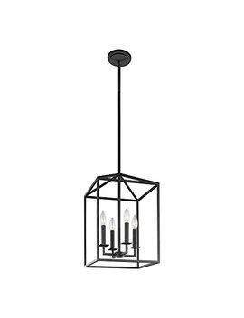 Sea Gull Lighting 5115004 839 Perryton Four Light Hall Or Foyer Light Fixture, Blacksmith Finish by Sea Gull Lighting