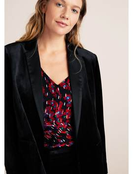 Velvet Structured Blazer by Mango