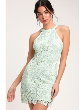 Love Poem Mint Green Lace Dress by Lulus