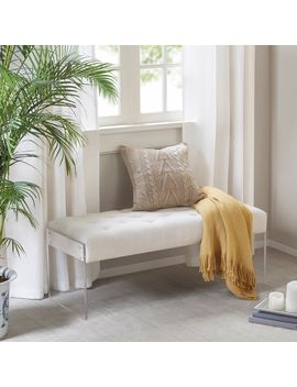 Madison Park Flaxton Cream Accent Bench by Madison Park