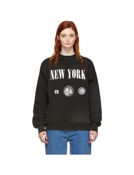 Black 'new York' Souvenir Turtleneck by Alexander Wang