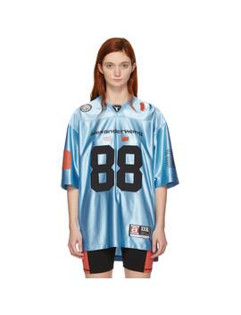 Blue Jersey High Shine T Shirt by Alexander Wang