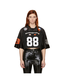Black Jersey Athletic Cropped T Shirt by Alexander Wang