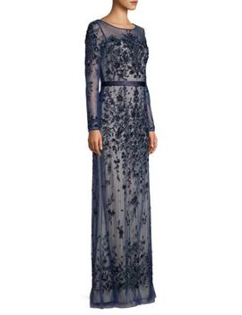 Ills Floral Embellished Gown by Basix Black Label