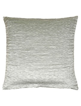"Silver Solid Textured Throw Pillow 18""X18""   Rizzy Home® by Rizzy Home"