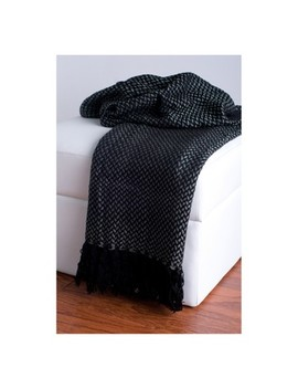 "Throw Blankets 50""X60"" Black   Rizzy Home by Rizzy Home"