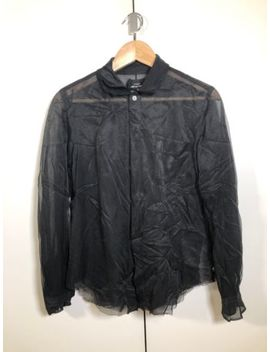 Comme Des Garçons Tricot Women's Double Layer Sheer Shirt Black   Size M by Ebay Seller
