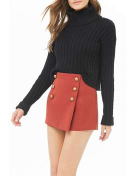 Button Front Skort by Forever 21