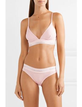 Modern Cotton Ribbed Stretch Cotton Jersey Soft Cup Bra by Calvin Klein Underwear