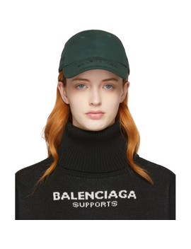 Khaki Logo Cap by Balenciaga