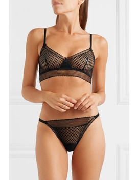 Bella Stretch Mesh Soft Cup Bra by Else